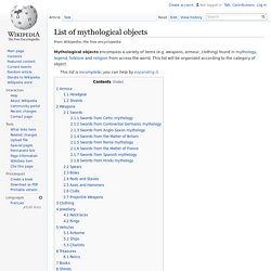 List of mythological objects