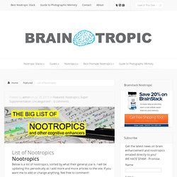 List of Nootropics - Braintropic