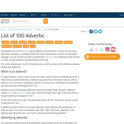 List of 100 Adverbs