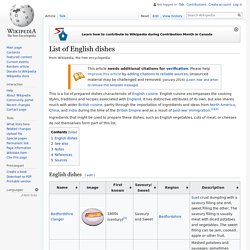 List of English dishes - Wikipedia