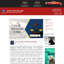 List of Law courses in India