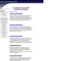 List Of Open Source ERP