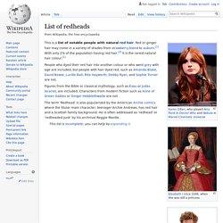 List of redheads