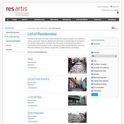 List of Residencies