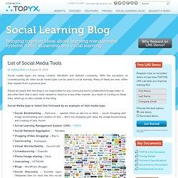 List of Social Media Tools