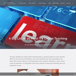 A Big List of 50 Must-Try Online Teaching Tools