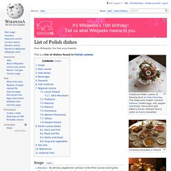 List of Polish dishes