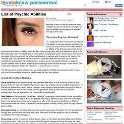 Psychic Powers List - #traffic-club