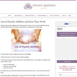 List of Psychic Abilities and How They Work