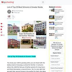 List of Top 20 Best Schools in Greater Noida