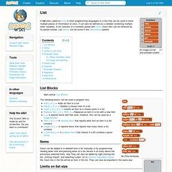 List - Scratch Wiki