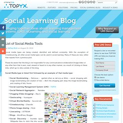 List of Social Media Tools That Can be Used in Social Learning - Interactyx