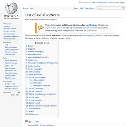 List of social software