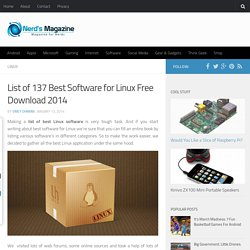List of 137 Best Software for Linux Free Download 2014