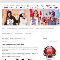 List of Top Spanish Fashion Designers