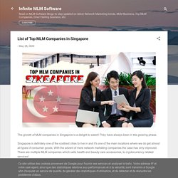 List of Top MLM Companies in Singapore