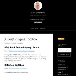 List of Useful jQuery Plugins