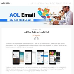 List View Settings in AOL Mail