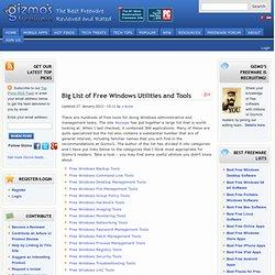 Big List of Free Windows Utilities and Tools