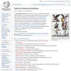 Lista de criaturas lendárias