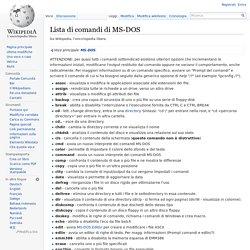 Lista di comandi di MS-DOS