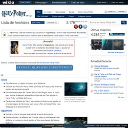 Lista de hechizos - Harry Potter Wiki