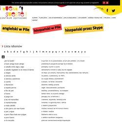- Lista idiomów