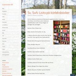 Sv, SvA: Lista på kärleksböcker