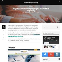 Lista de páginas webs que te pagan por escribir en español