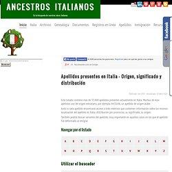 Listado de apellidos italianos A - Z