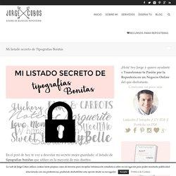 Mi listado secreto de Tipografias Bonitas - JorgeCobos