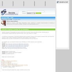 Revista PHP - Listando arquivos e pastas de um diretório