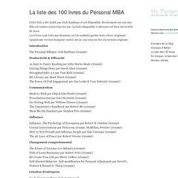 La liste des 100 livres