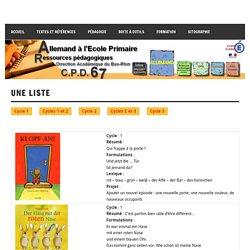 Une liste - Allemand à l'école primaire