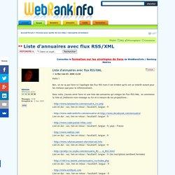 Liste d'annuaires avec flux RSS/XML : Annuaires et moteurs