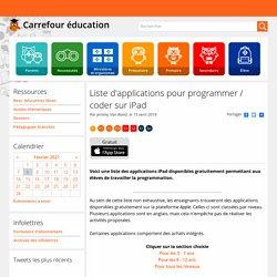 Liste d'applications pour programmer / coder (iPad)