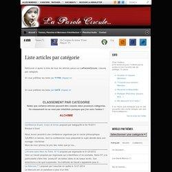 Liste articles par catégorie