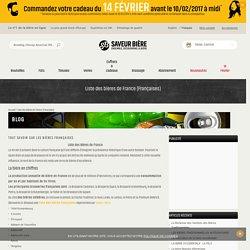 Liste des bières de France (Françaises)