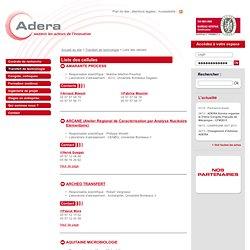Liste des cellules - ADERA