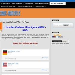 Liste des chaînes IPTV M3U version XBMC KODI