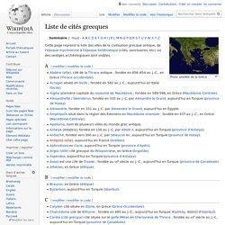 Liste de cités grecques