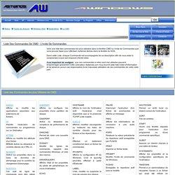 Liste des Commandes CMD ou DOS que vous pouvez taper dans l'Invite de Commandes