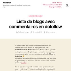 Liste de blogs avec commentaires en dofollow | HOUNKPE MEDIA
