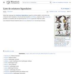 Liste de créatures légendaires