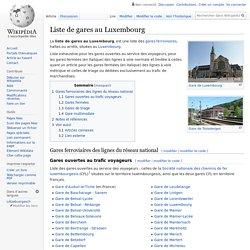 Liste de gares au Luxembourg