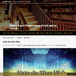Liste de sites Web