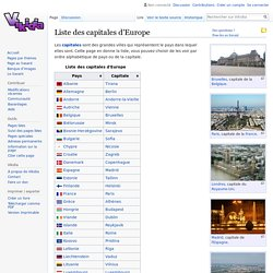 Liste des capitales d'Europe