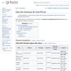 Liste des chansons de Jean Ferrat