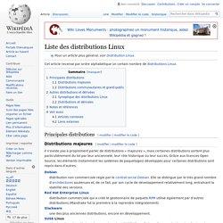 Liste des distributions Linux