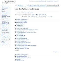 Liste des Fables de La Fontaine